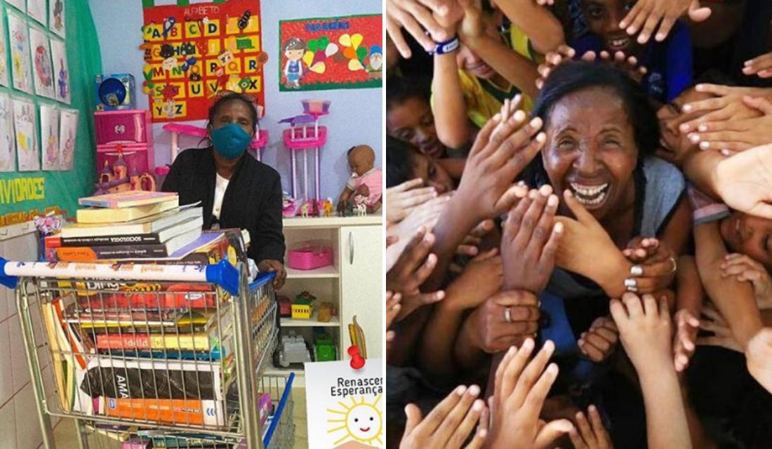 Mulher que trabalhava como gari cria ONG e passa a ajudar centenas de crianças