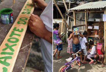 Comunidade do Rio de Janeiro recebe Caixote do Saber e crianças ficam em êxtase!