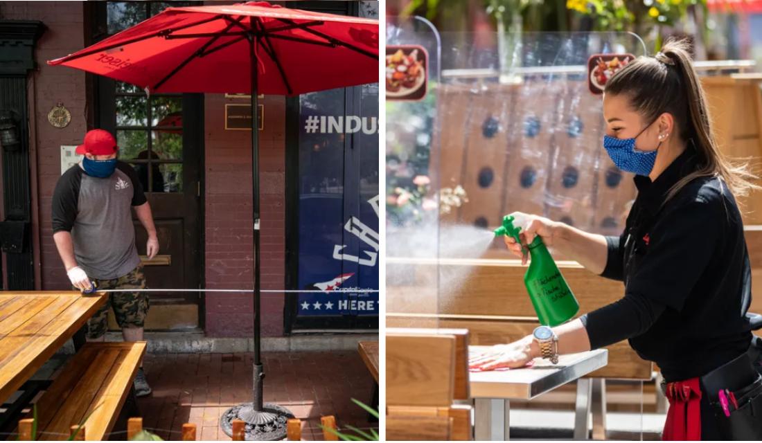 Restaurantes criam método fofo para manter o distanciamento social