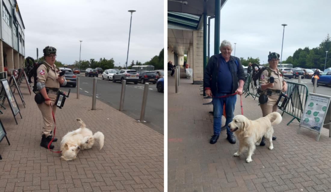 Segurança de supermercado faz gesto singelo com cão que estava na chuva