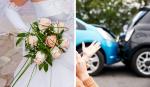 Enfermeira abre mão do momento de noiva, para ajudar vítima em acidente