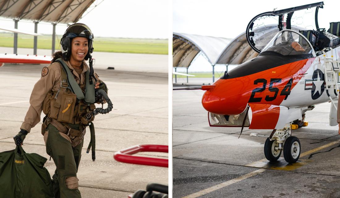 Marinha dos EUA anuncia a primeira piloto de caça afro-americana!