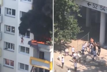 Vizinhos fazem ato heroico para salvar crianças de apartamento em chamas