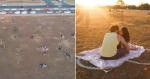Brasília tem em praça, corações desenhados no chão em prol de isolamento