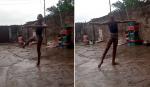 Ex-bailarina ativista faz surpresa emocionante para garoto nigeriano que dançou na chuva
