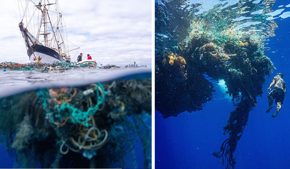 Tripulantes passam quase 50 dias removendo lixo do Pacífico e quantia recolhida assusta