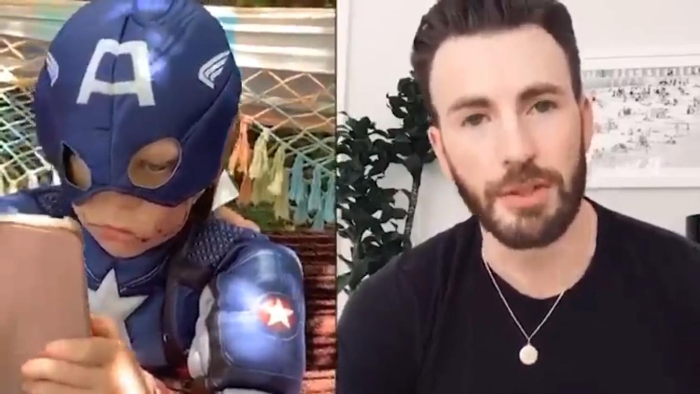 Garoto que fez ato heroico para salvar sua irmã recebe PRESENTE incrível do 'Capitão América'