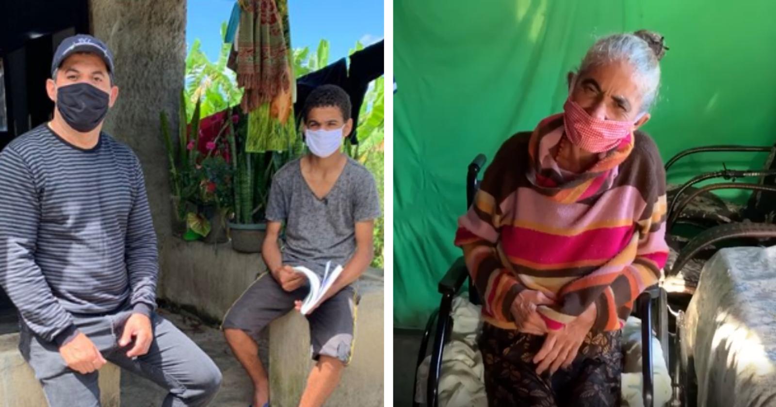 Garoto de 15 anos que cuida sozinho da mãe e da irmã doentes recebeu mais uma surpresa incrível!