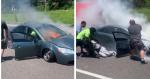 Homem toma atitude corajosa, resgata motorista desacordado e vídeo inspira a web
