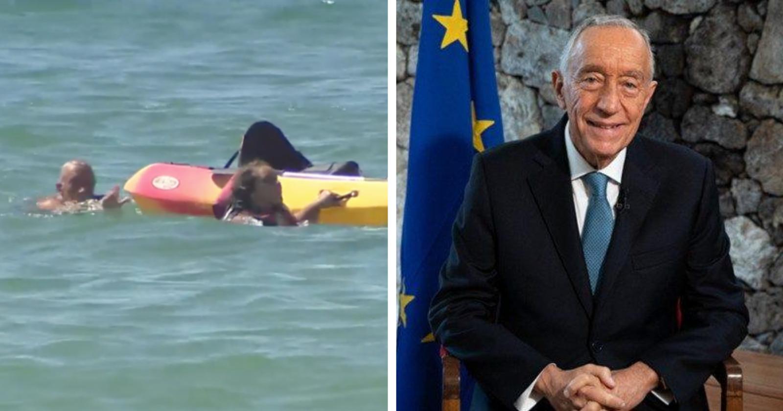 VÍDEO: Presidente de Portugal pula no mar e faz ato heroico para ajudar garotas que se afogavam