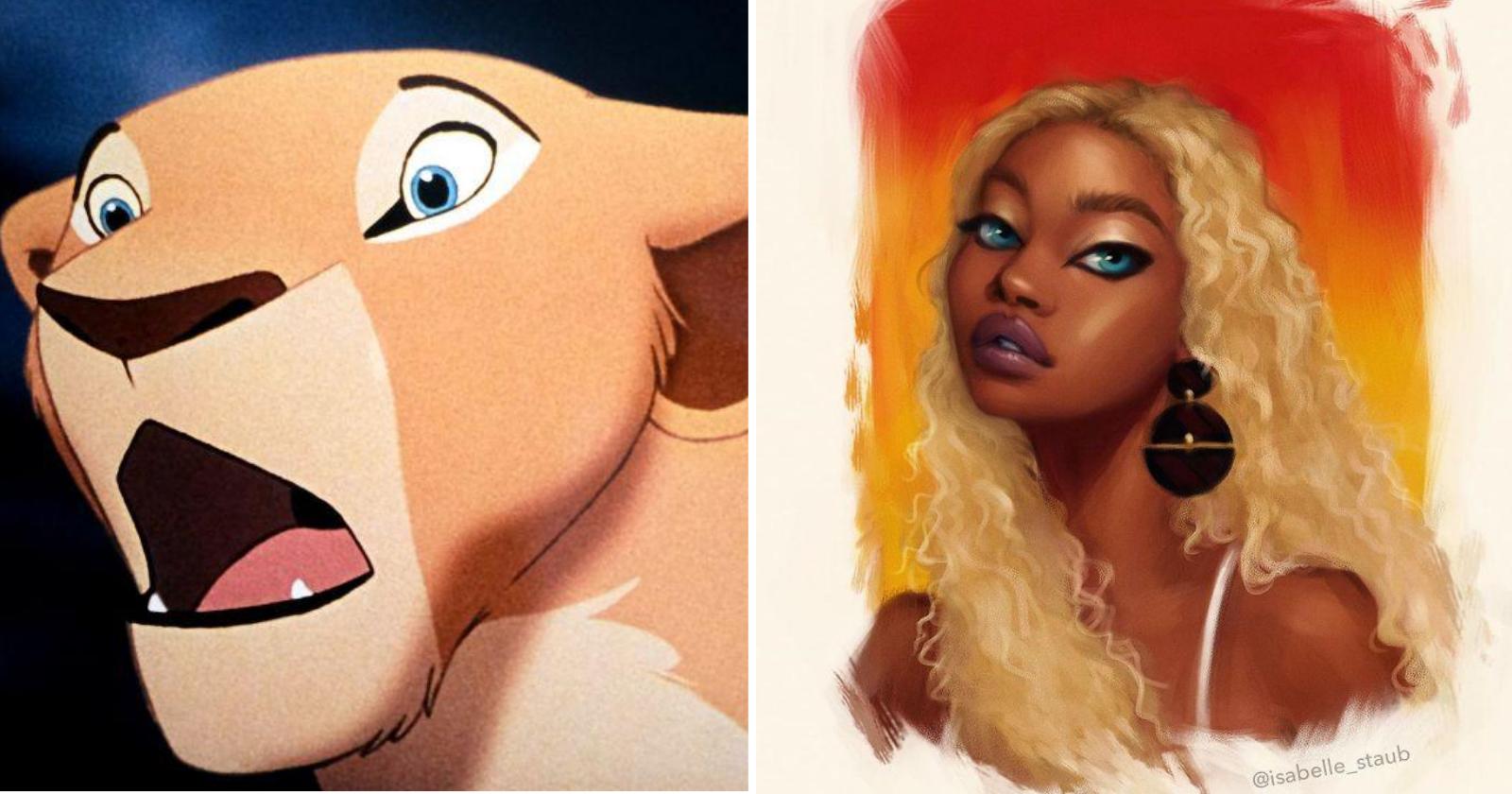 Artista recria personagens da Disney como se fossem humanos e resultado encanta!