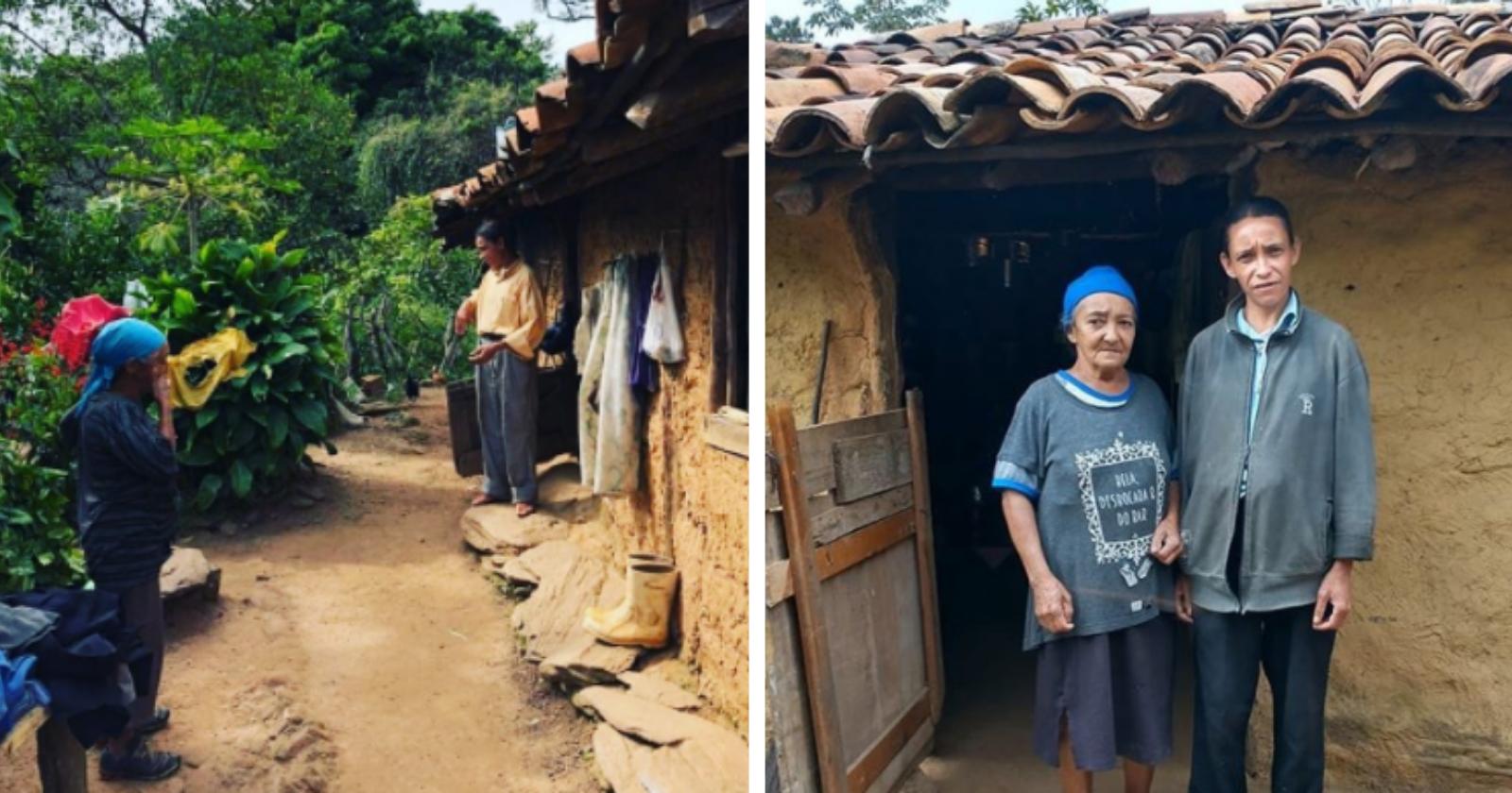 Motociclistas decidem transformar casa de mãe e filha que moram em área remota
