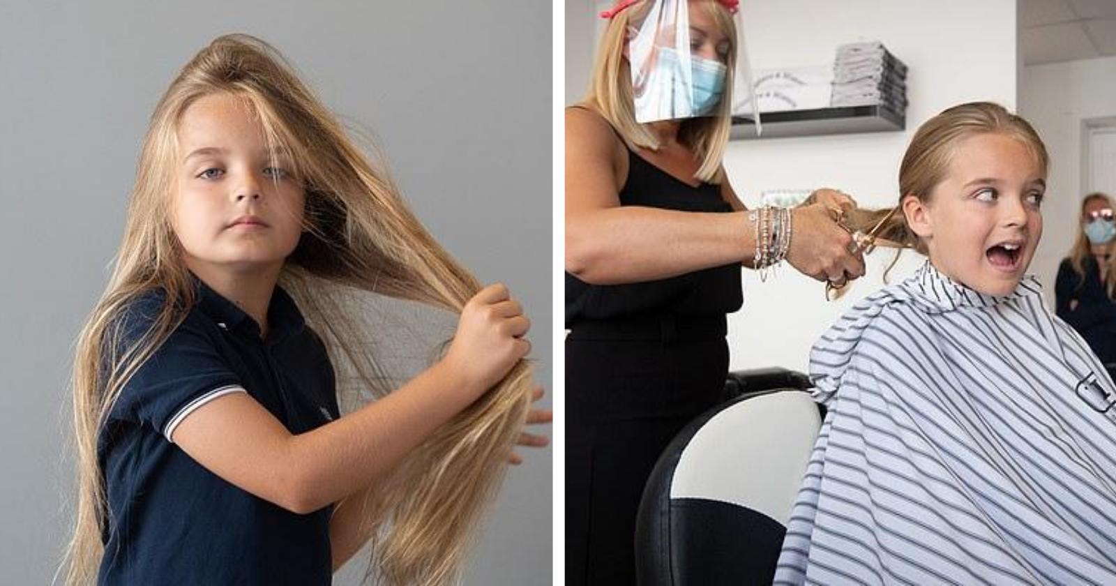 Garotinho deixa cabelo crescer por nove anos, para conseguir fazer ação solidária