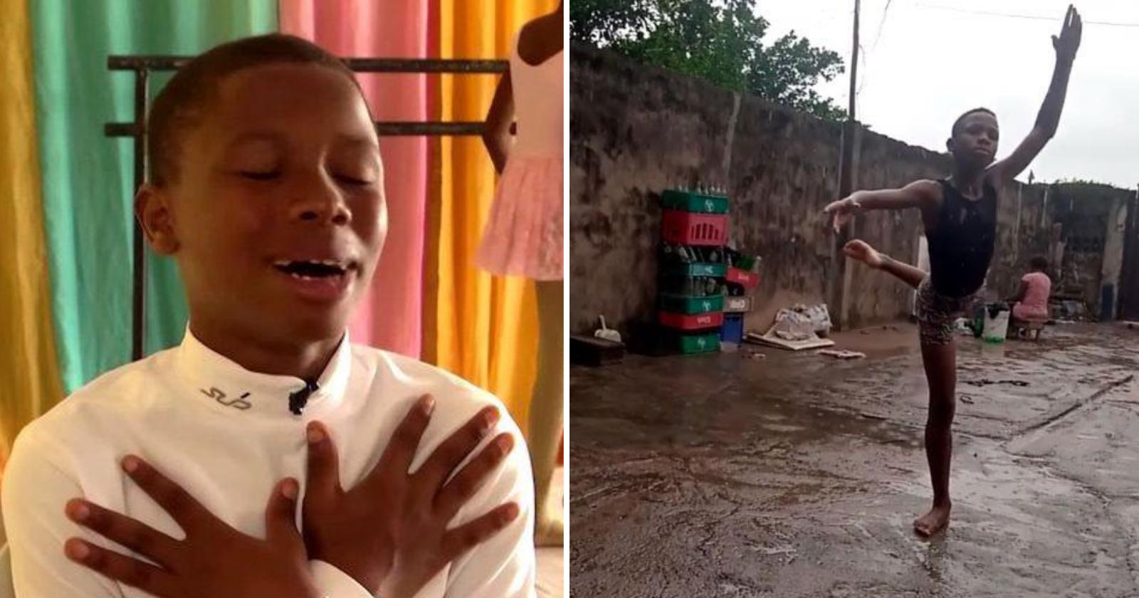 Lembra do garoto que viralizou dançando balé na chuva? Olhe só o que ele ganhou!