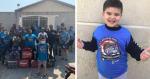 Entregadores se reúnem e visitam garoto autista que é apaixonado por motoboys
