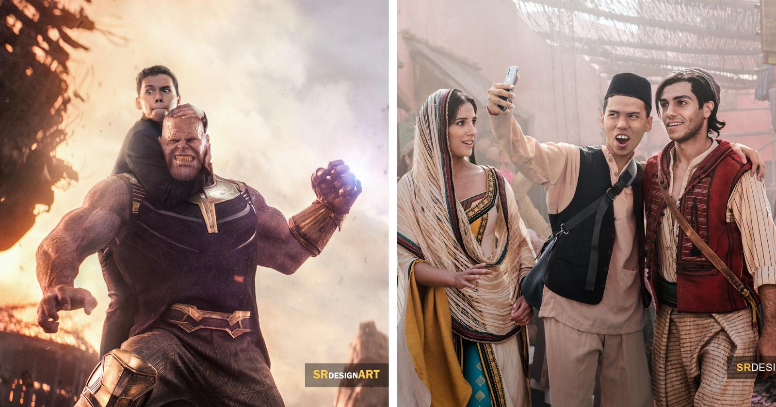 Fotógrafo cria montagens HILÁRIAS ao lado de famosos e resultados CHOCAM a web