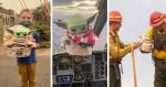 Garotinho doa presente inusitado para bombeiros e a reação deles é a melhor