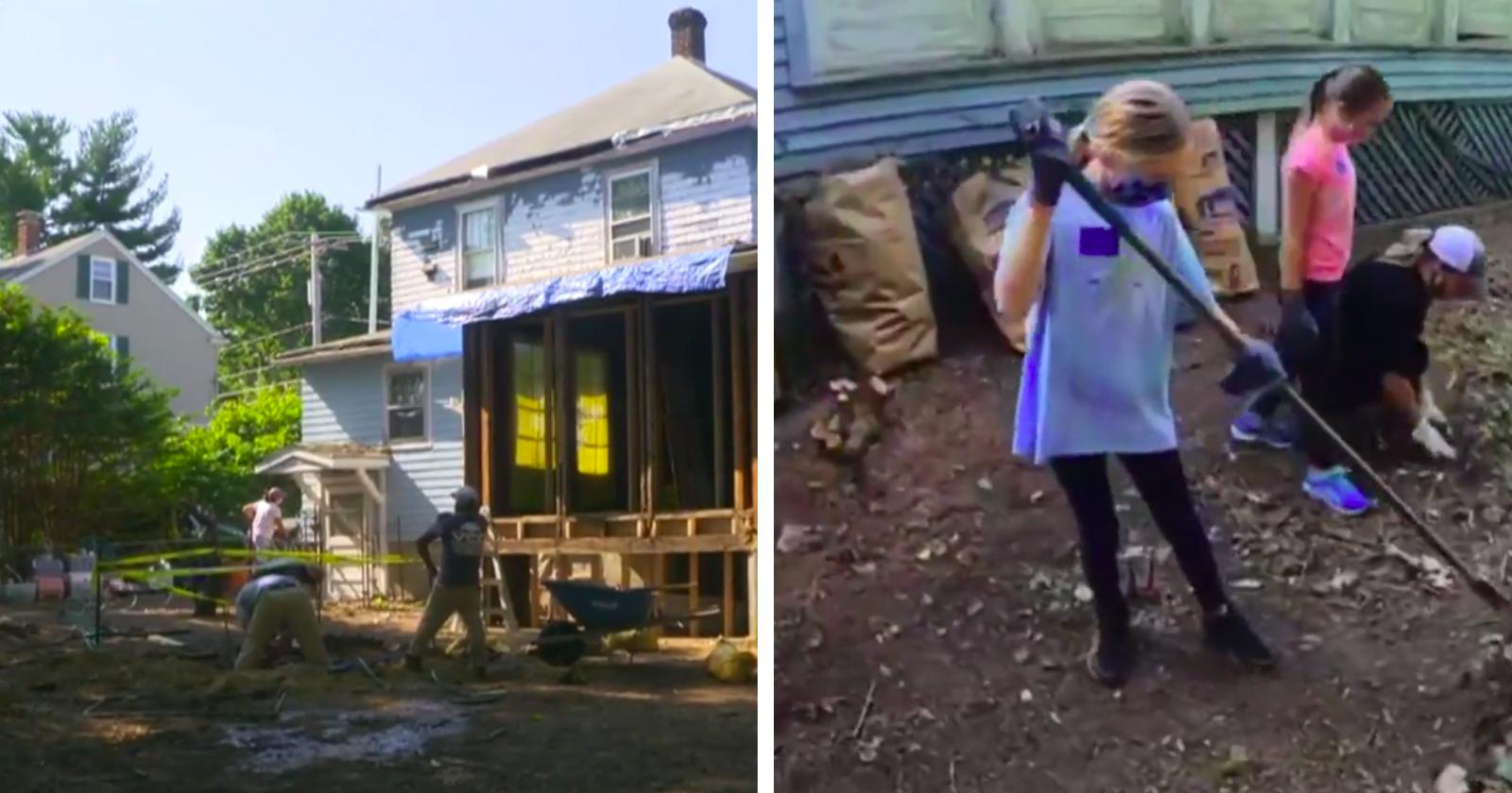Eletricista reúne comunidade e juntos surpreendem idosa ao transformarem sua casa