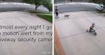 Câmera de segurança alerta criança em sua garagem e vizinho faz surpresa contagiante