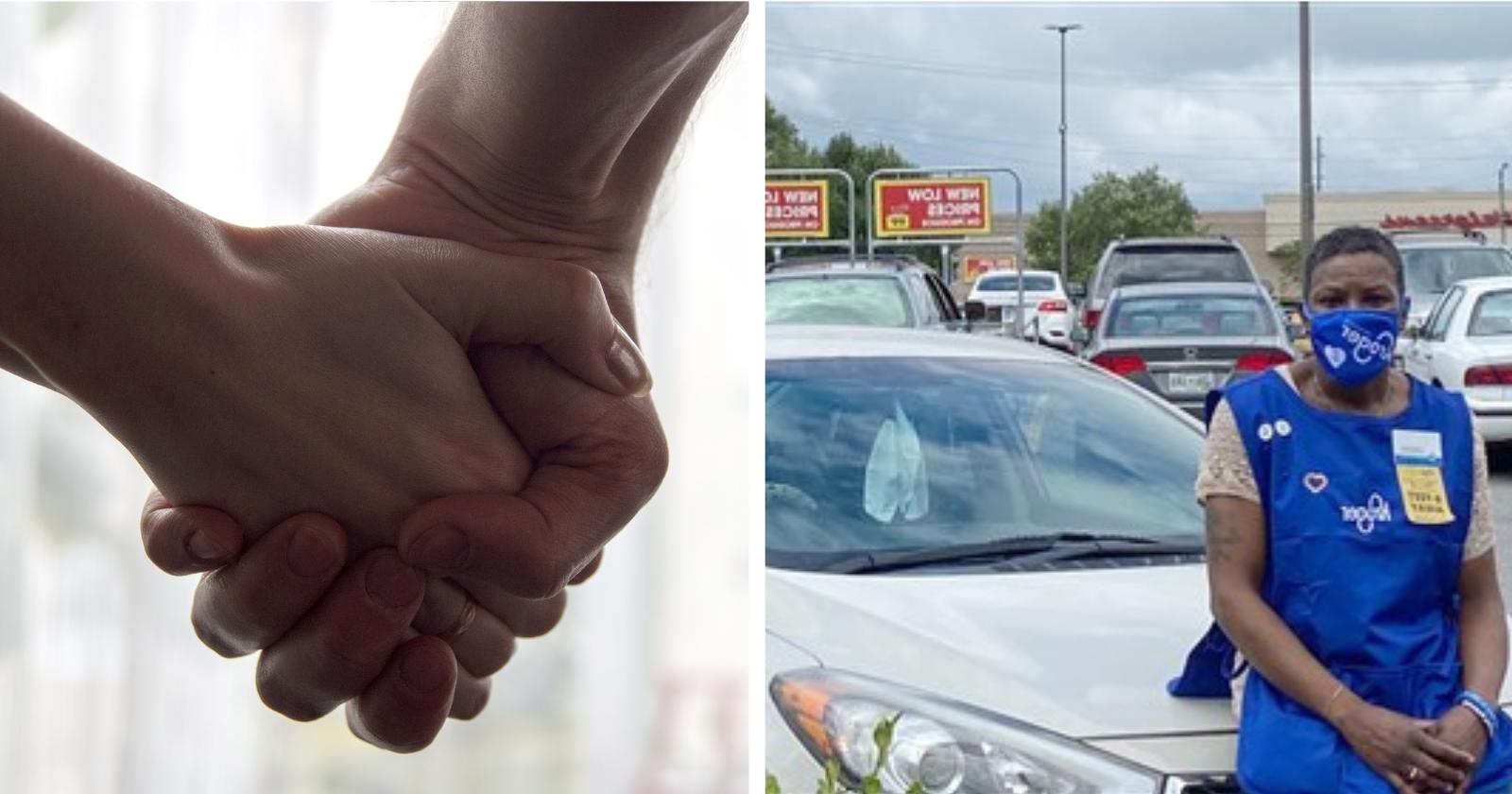 mulher-sem-teto-que-morava-em-estacionamento-de-supermercado-recebe-surpresa-de-estabelecimento-e-tem-sua-vida-transformada