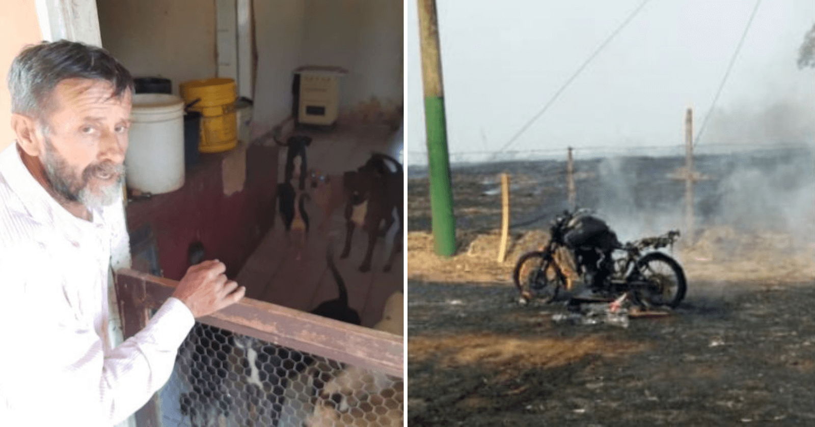 Senhor que perdeu moto em incêndio para salvar animais ganha surpresa de amigos e desconhecidos