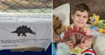 Vizinha encontra dinossauro perdido de garotinho e o devolve da melhor forma