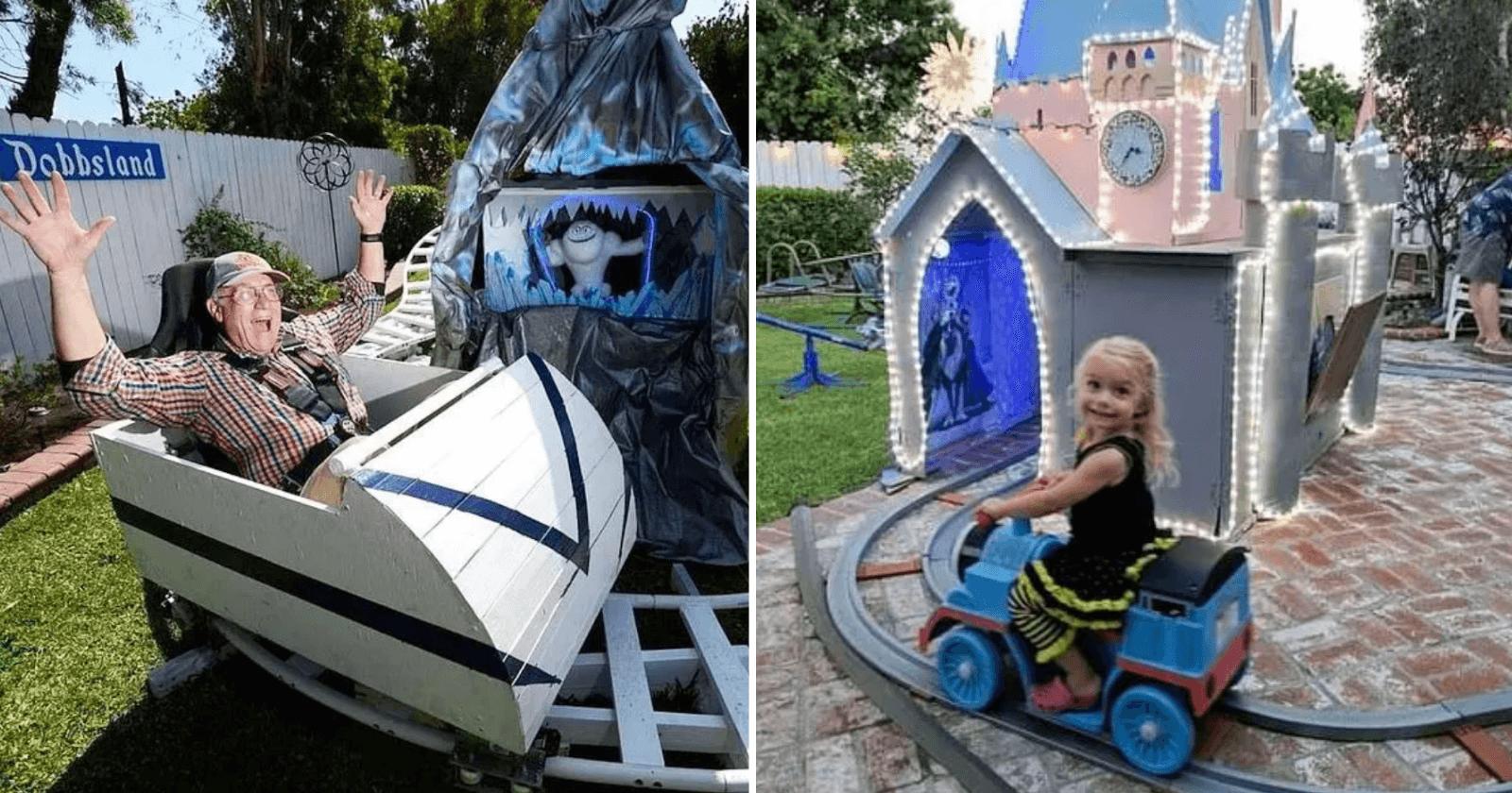 Pensando na educação dos netos, vovô cria parque da Disney em seu quintal e resultado impressiona