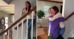 A reação dessa mulher ao ver seu sobrinho pela primeira vez e sua irmã após 15 meses te deixará emocionado