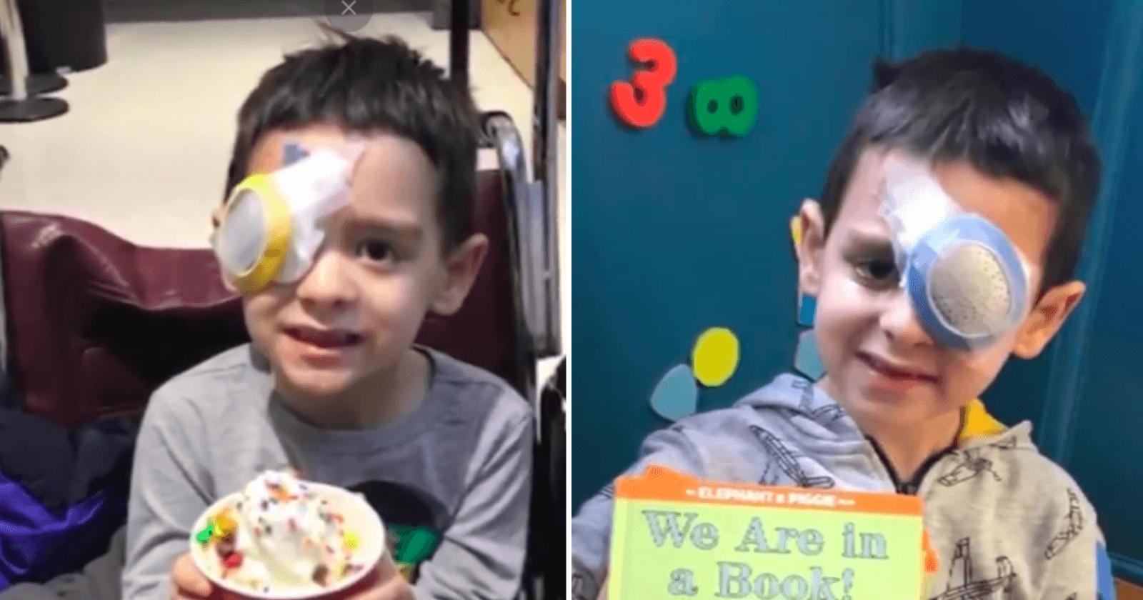 Pela primeira vez, garotinho com tipo raro de cegueira consegue ver as ESTRELAS
