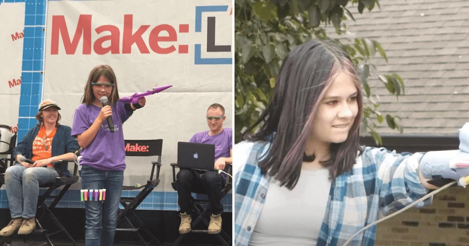 Garota de 14 anos cria invenção e transforma deficiência em superpoder