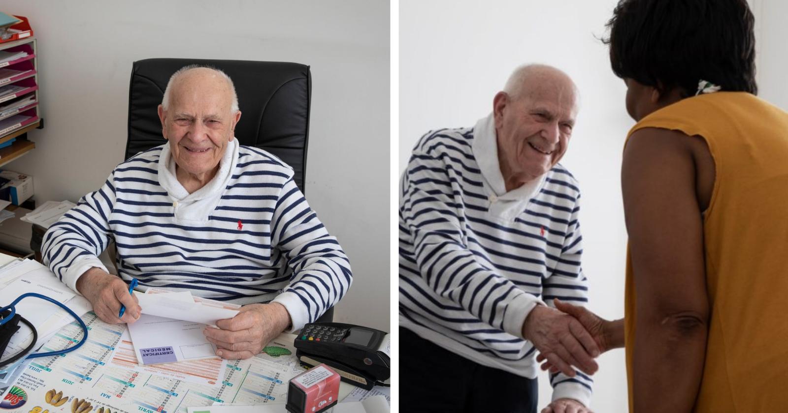 Médico francês de 98 anos atende pacientes carentes há 70: 'Eles me fazem querer continuar'