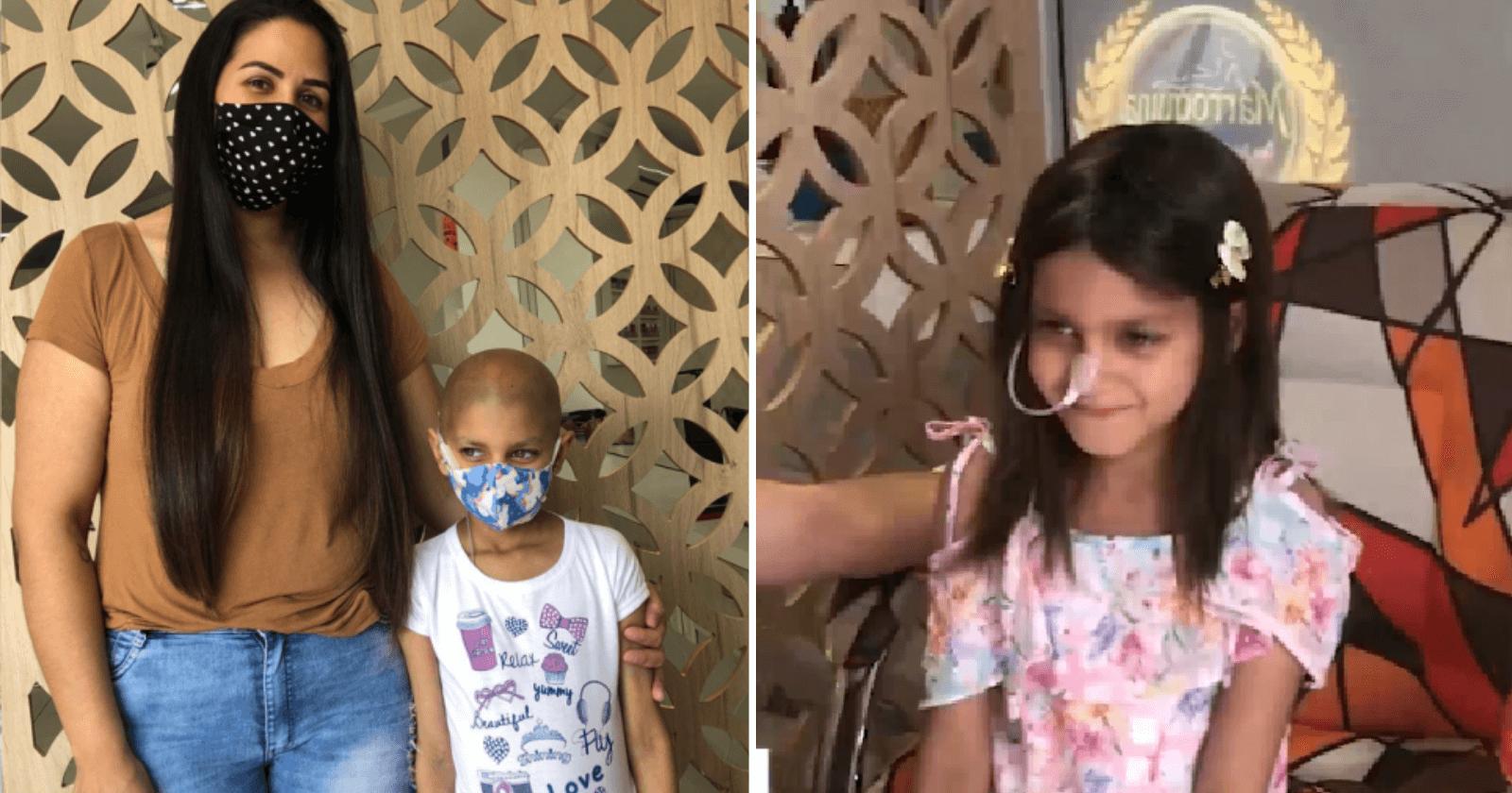 Mãe faz gesto acolhedor para filha que perdeu os cabelos em quimioterapia se sentir melhor