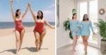 Melhores amigas quebram padrão de beleza mostrando seus corpos diferentes em roupas iguais