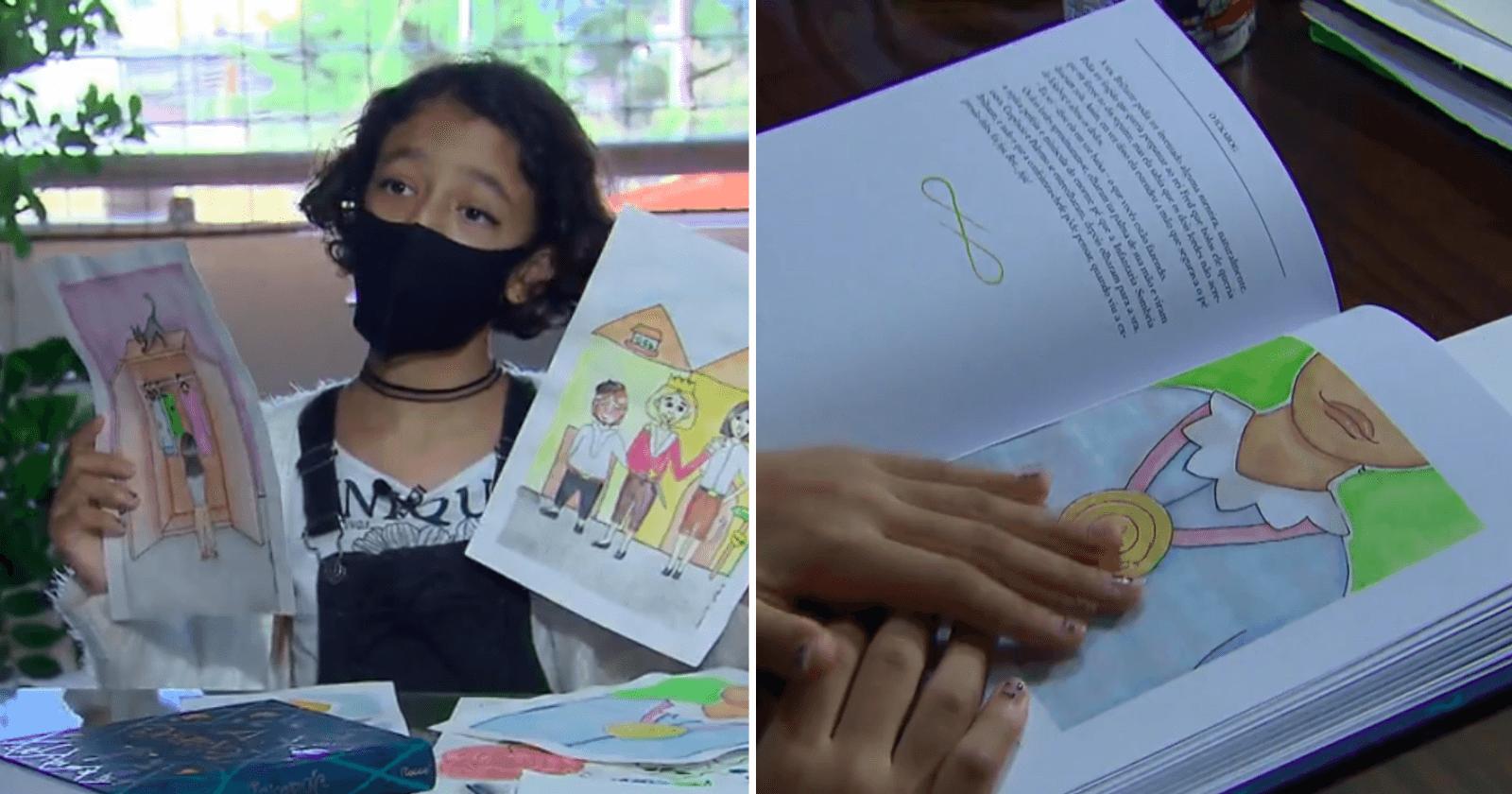 Garotinha pernambucana de 11 anos ganha participação com ilustração em livro de J.K. Howling
