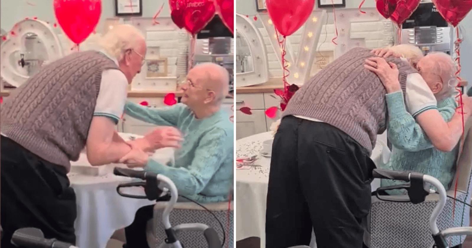 Passando 5 semanas separados, idosos casados há 76 anos se reencontram e momento explode corações!
