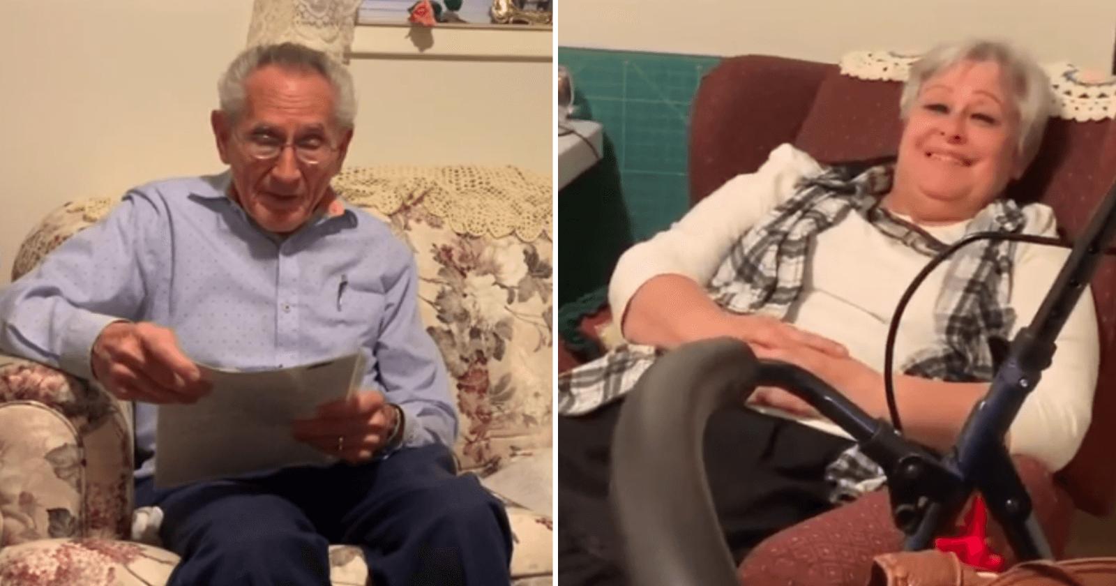 Idoso de 87 anos faz declaração de amor para esposa com poema que escreveu durante o namoro