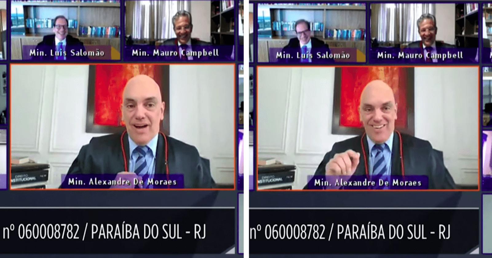 Ministro do TSE é interrompido por cachorro em videoconferência e reação seguinte é a melhor!