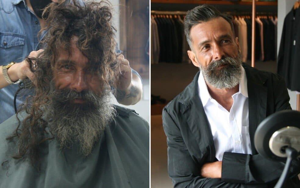 Catador de recicláveis pede gilete em barbearia e ganha TRANSFORMAÇÃO como presente!