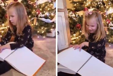Garotinha cega ganha livros de Harry Potter em Braille e tem a melhor reação de todas!