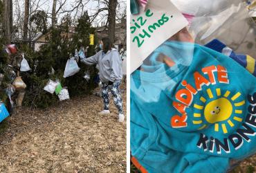"""Crianças criam """"árvore de bênção"""" para continuar manter generosidade do natalina"""