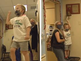 Garotinho que passou por 60 semanas de quimioterapia recebe a melhor notícia de TODAS!