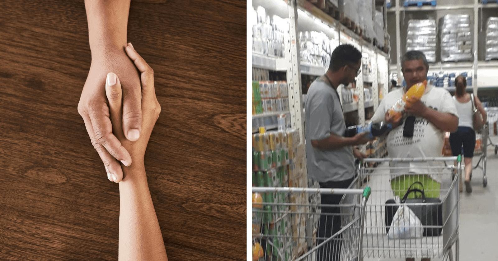Funcionário ajuda deficiente visual em compras e sua dedicação emociona a web