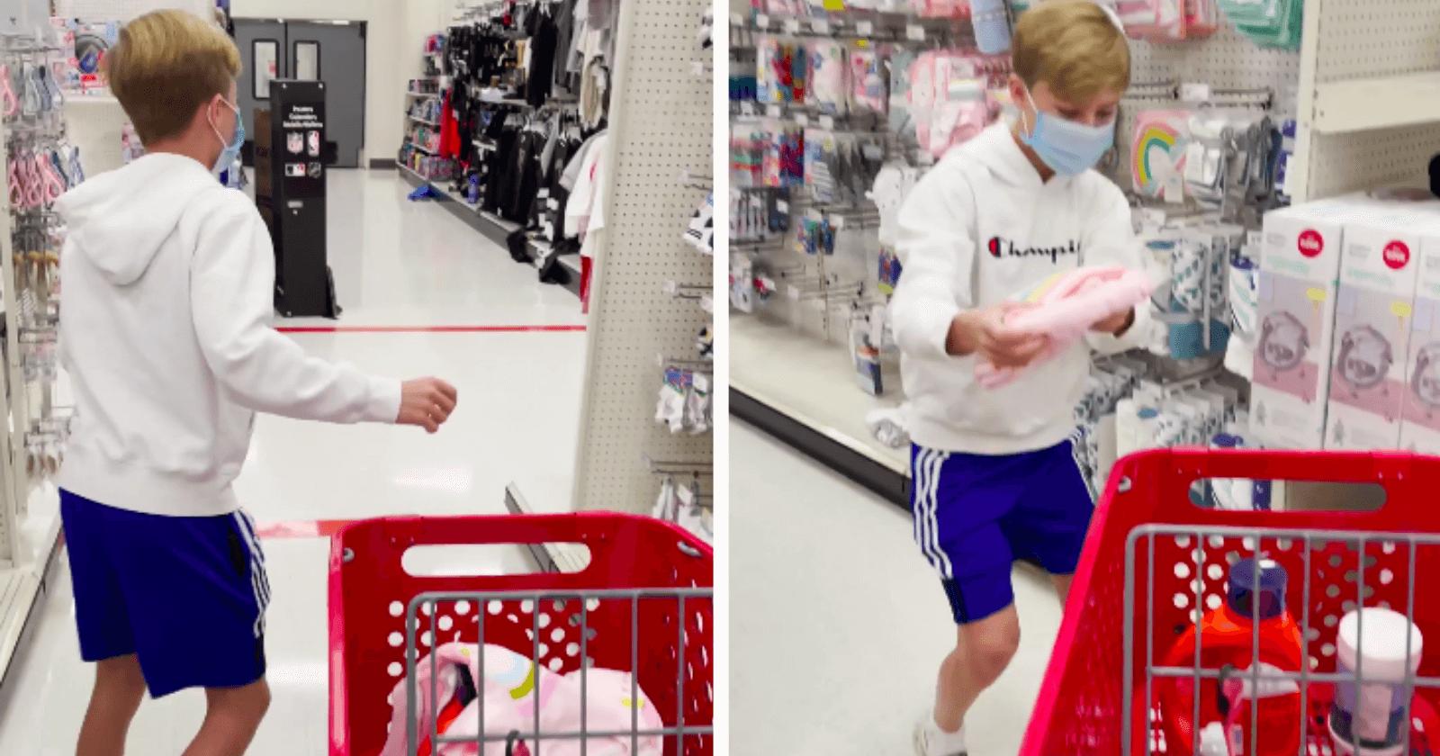 Comediantes pedem para garoto pegar o que quiser em loja e ele emociona a web com o que escolheu