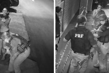 Policial atende mãe aos prantos e salva bebê que estava engasgado sem sinais vitais