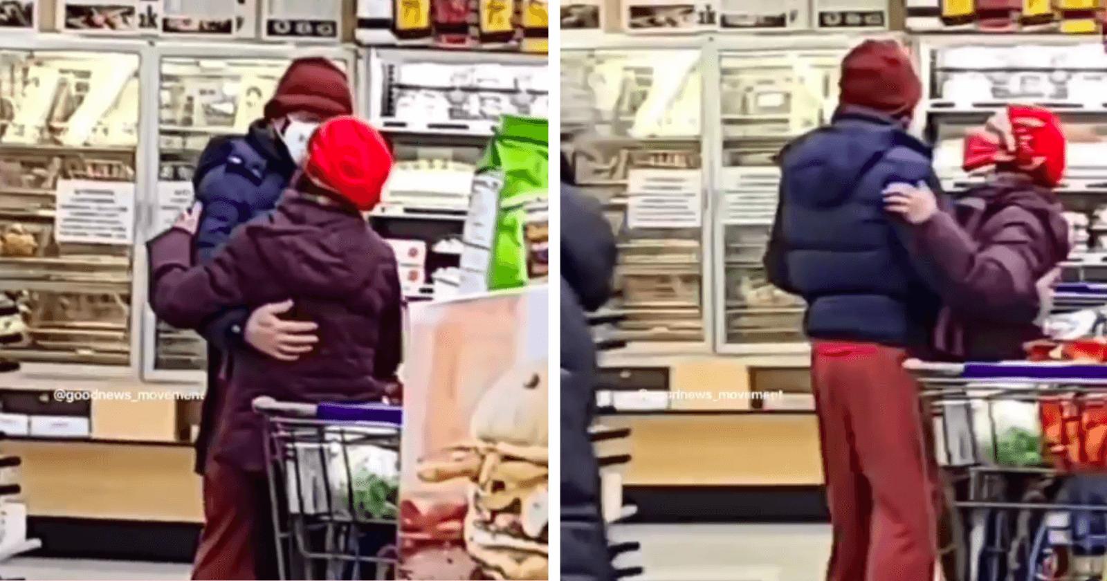 Casal de velhinhos é flagrado em momento romântico dentro de supermercado e reação da web é apaixonante!