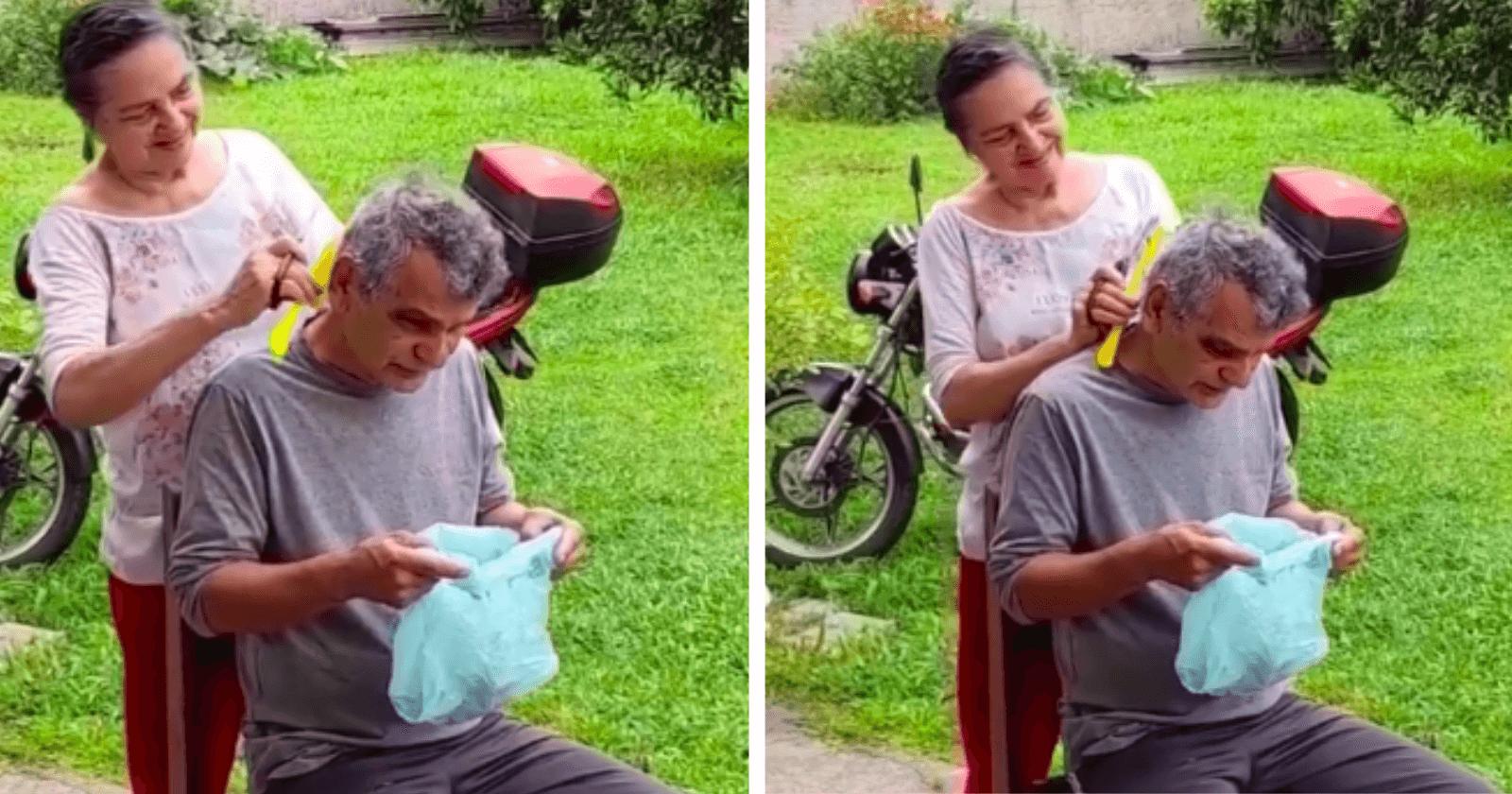 Neto encontra avós em momento fofo e ouve a melhor conversa: 'digno de registro, não visualização'