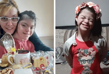 Após ser abandonada em casa de repouso, família abre seu lar para garotinha com Down