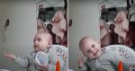 Em conversa, mãe faz pergunta a bebê e ela responde com o melhor gesto
