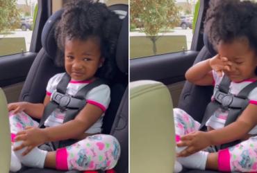 Despedida emocionante de vovô e neta é filmada por mãe: o reflexo da dor causada pela quarentena