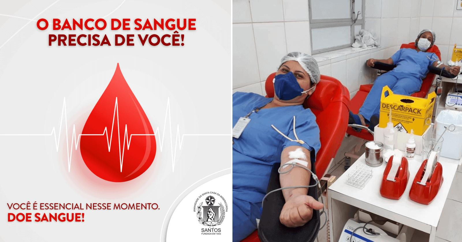 Profissionais de saúde doam sangue para repor estoque de hospital em estado crítico